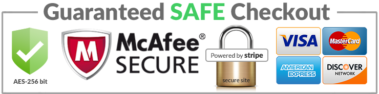 Image with logos displaying secure payment gateway